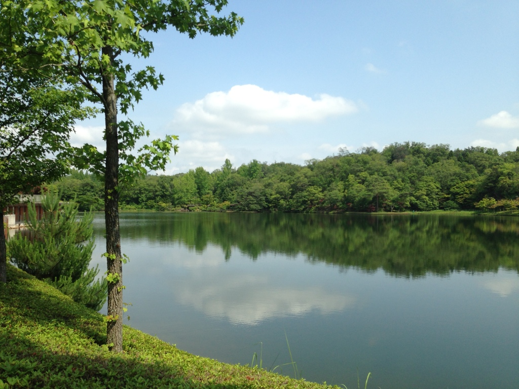 A beautiful lake inside the park. Entering the park is free of charge.